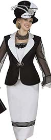 Clearance Champagne 4975 Ladies Shangtong Suit With Clover Leaf Lapel