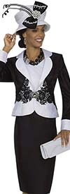 Champagne 4976 Ladies Clover Leaf Lapel Jacket / Dress Set