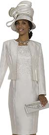Champagne 4979 Womens Embroidered Dress / Jacket Set