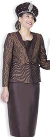 Champagne 5103 Exclusive Brocade Jacket & Twill Satin Wardrober Set