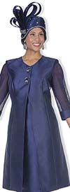 Champagne 5126 Twill Satin Long Mesh Sleeve Jacket & Dress Set