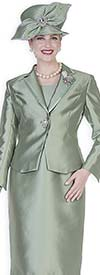 Champagne 5127 Twill Satin Notch Lapel Jacket & Dress Set