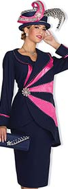 Champagne 4860 Ladies Peach Skin Church Suit With Asymmetric Design Jacket