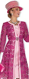 Champagne 5004-Fuchsia - Lace Dress & Jacket Suit For Women
