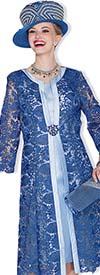 Champagne 5004-Royal - Lace Dress & Jacket Suit For Women