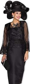 Champagne 5008 Womens Skirt Suit With Lace & Mesh Jacket