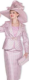 Champagne 5010 Womens Shawl Lapel Skirt Suit With Triangle Print