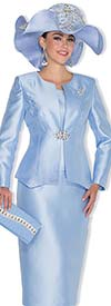 Champagne 5022 Womens Twill Satin Skirt Suit For Church