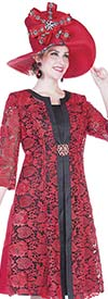Champagne 5004 Special Lace Jacket & Dress Set With Satin Twill Accents