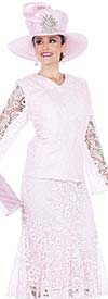 Champagne 5007 Special Lace Fabric Jacket & Skirt Suit