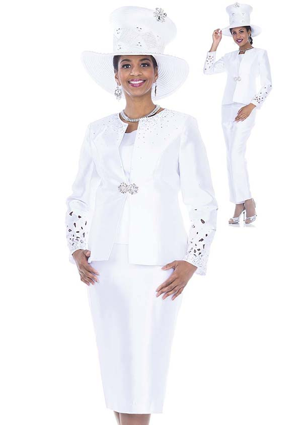 Champagne 5106 Four Piece Twill Satin Womens Suit Wardrober With Embellished Jacket