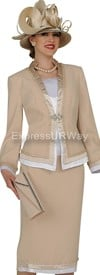 Champagne 4309 Womens Church Suits