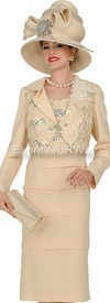 Champagne 4315 Womens Church Suits