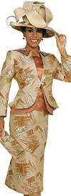 Champagne 4810 Womens Church Suits