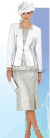 Champagne 4105-White Womens Church Suits