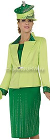 Champagne 4557 Womens Church Suits