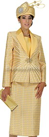Champagne 4702 Womens Church Suits