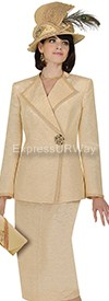 Champagne 4711 Womens Church Suits