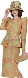 Champagne 4718 Womens Church Suits