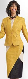 Chancelle 40524 Ladies Star Collar Two Piece Skirt Suit