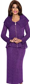 DCC - DCC383-Purple Lace Suit With Puritan Style Collar