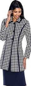 Clearance D.Vine DV1032 Womens Houndstooth Print Suit