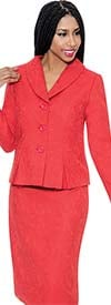 Clearance D.Vine DV1126 - Womens Jacquard Skirt Suit With Pleated Jacket