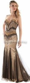 Daniella 1100 - Black / Nude - Evening Wear