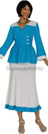 Devine Casuals DC1092 Turquoise-White