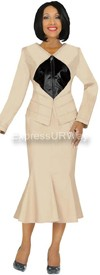 Devine Denim 95703 - Champagne -Womens Denim Suit