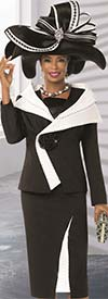 Donna Vinci 11513 Womens Church Suit With Trapunto Stitching