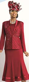 Donna Vinci 11518 Womens Embroidered Applique Trimmed Suit