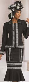 Donna Vinci 5526 Womens Embroidered Applique Suit