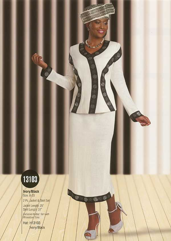 Womens Knit Church Suit by Donna Vinci - 13103 - Spring 2016 - www.expressurw...
