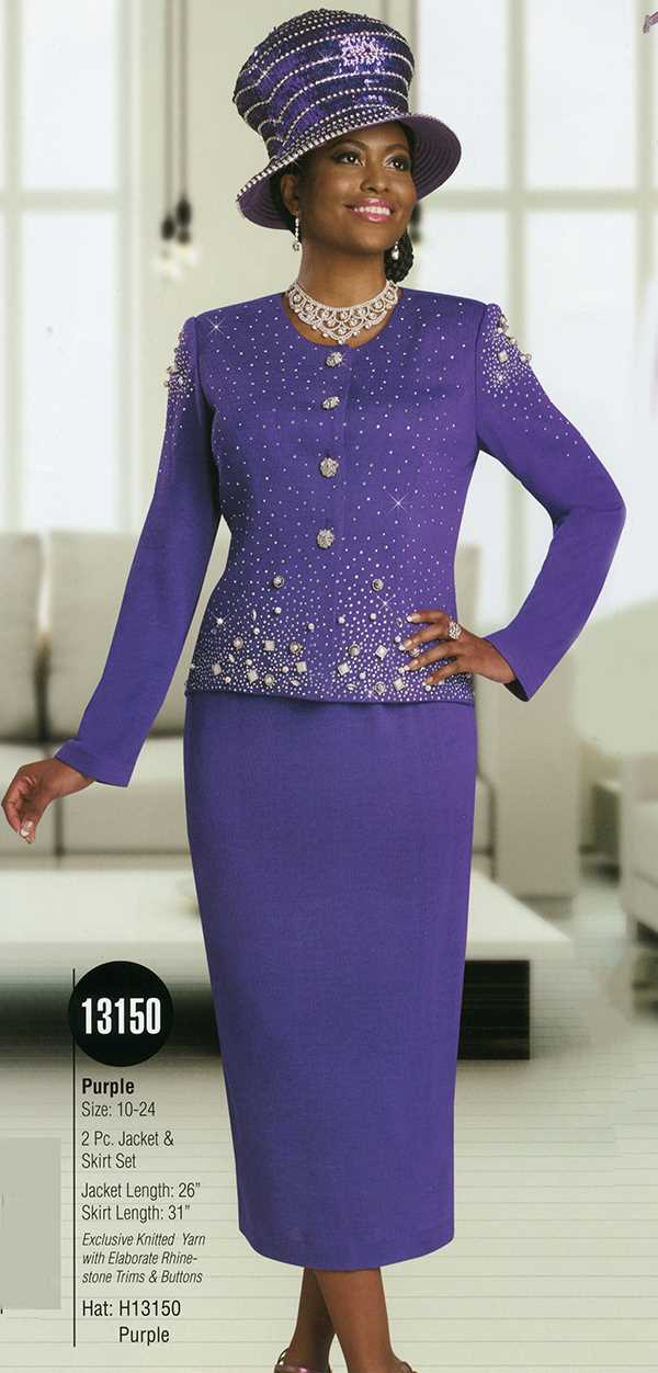 Womens Knit Church Suit By Donna Vinci 13150 Spring