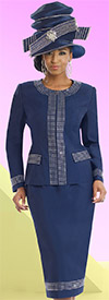 Donna Vinci 11528 Two Piece Womens Suit With Rhinestones
