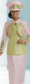 Donna Vinci 11535 Womens Three Piece Suit With Rhinestones & Embroidery