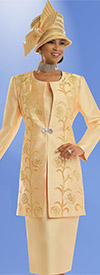 Donna Vinci 11536 Womens Skirt Suit With Elaborate Embroidered Technique