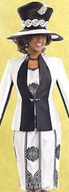 Donna Vinci 11542 Church Dress With Silk Look Jacket & Rhinestones