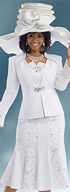 Donna Vinci 11545 First Lady Church Suit With Embroidery & Sequin Trim