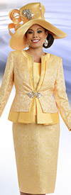 Donna Vinci 5558 First Lady Church Suit With Layered Jacket
