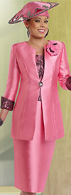 Donna Vinci 5565 Womens Skirt Suit With Lace
