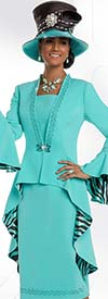 Donna Vinci 11584 Womens Church Suit With High Low Jacket