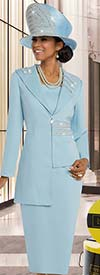 Donna Vinci 11623 Skirt Suit With Embellished Asymmetrical Design Jacket