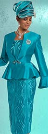 Donna Vinci 11632 Ladies Skirt Suit With Peplum Flare Jacket