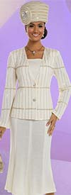 Donna Vinci 13212 Embellished Knit Church Suit With Flared Skirt