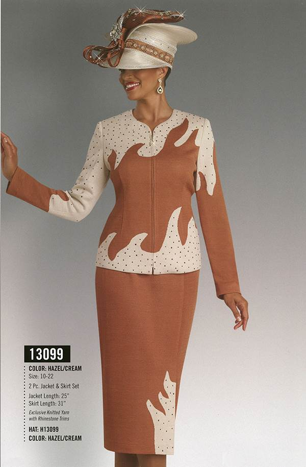 Donna Vinci Knits : Womens Knit Church Suit by Donna Vinci - 13099 - Fall 2015 - www.expressurway...