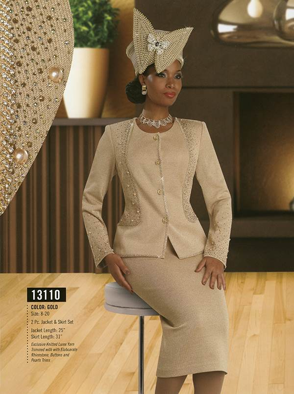 Donna Vinci Knits : Womens Knit Church Suit by Donna Vinci - 13110 - Fall 2015 - www.expressurway...