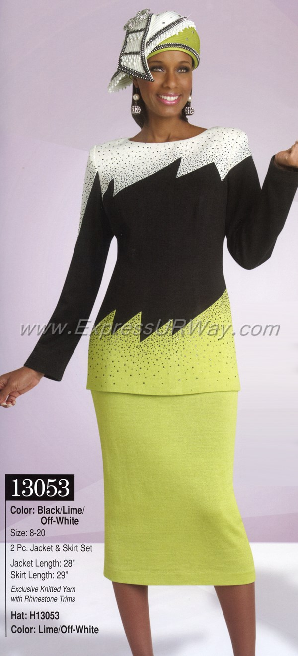 womens knit church suit by donna vinci - 13053 - spring 2015