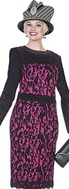 Elite Champagne 4962 Exclusive Knit Dress With Abstract Print Design